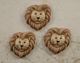 Lion Button set of 3