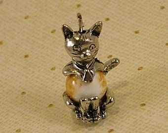 Orange Kitty Charm