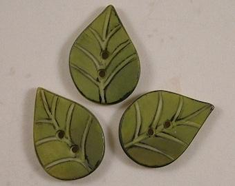 Leaf Buttons set of 3