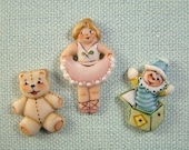 Toy Buttons set of 3