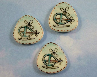 Helicopter Button set of 3