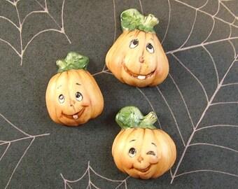 Pumpkin Head Embellishments set of 3
