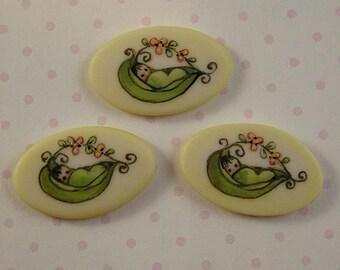 Pea Pod Baby Button set of 3
