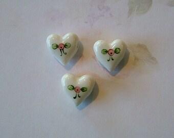 Heart Bead set of 3