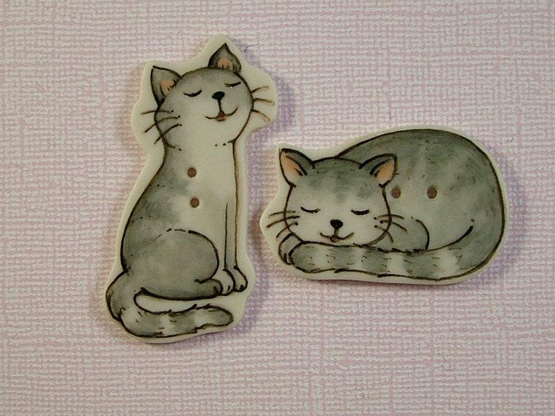Gray Stripe Kitties set of 2