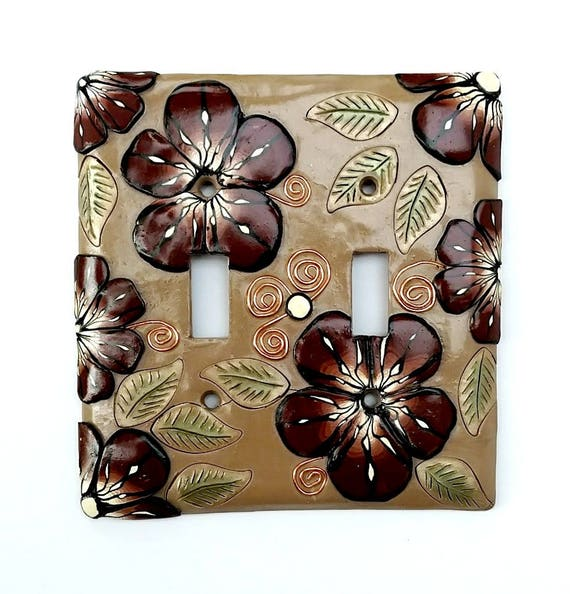 Decorative Light Switch Cover Polymer Clay Wall Art Wall Etsy