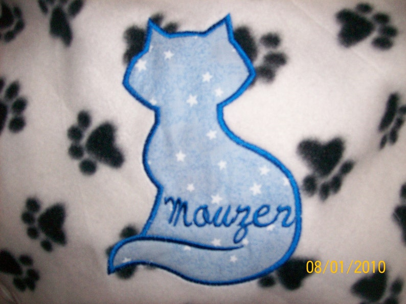 blue green plaid baby toddler 36x30  fleece fabric blanket personalized