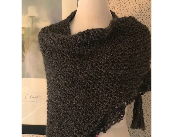 Outlander Inspired Claire's Shawl Wrap with beaded accents