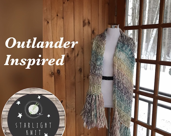Featured listing image: Outlander Inspired Hand Knit Soft and Light Shawl Scarf Wrap FREE SHIPPING