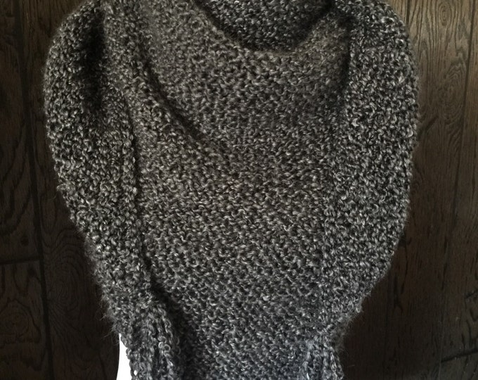 Featured listing image: Outlander Inspired Hand Knit Claire's Shawl Scarf Wrap