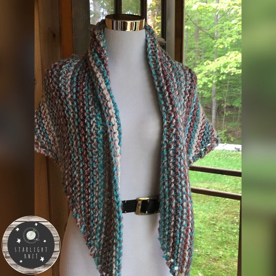 Outlander Inspired Hand Knit Claire's Shawl Scarf Wrap Extra Thick and SOFT FREE SHIPPING