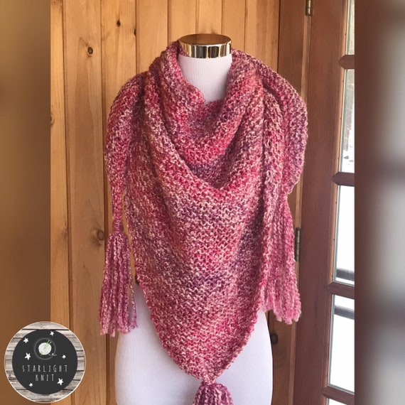 Outlander Inspired Hand Knit Claire's Shawl Scarf Wrap FREE SHIPPING