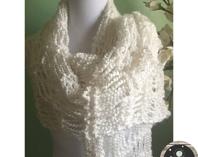 Featured listing image: Hand Knit Soft and Light Shawl Scarf Wrap FREE SHIPPING