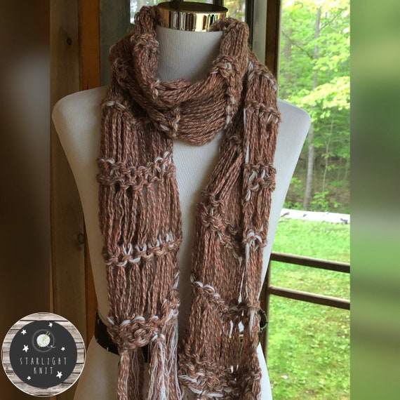 Ladies Hand Knit Fashion Accessory Scarf FREE SHIPPING