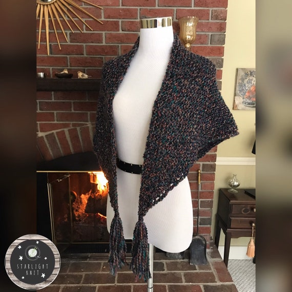 Outlander Inspired Hand Knit Shawl FREE SHIPPING