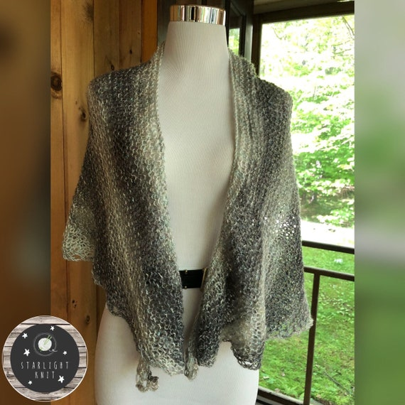 Lightweight Lacy Ladies Fashion Shawl with Sparkle FREE SHIPPING