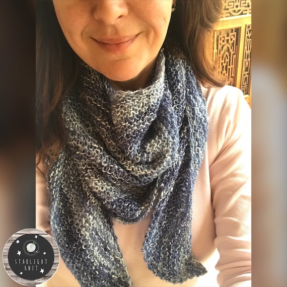 Lightweight Spring Summer Ladies Hand Knit Fashion Accessory Scarf FREE SHIPPING