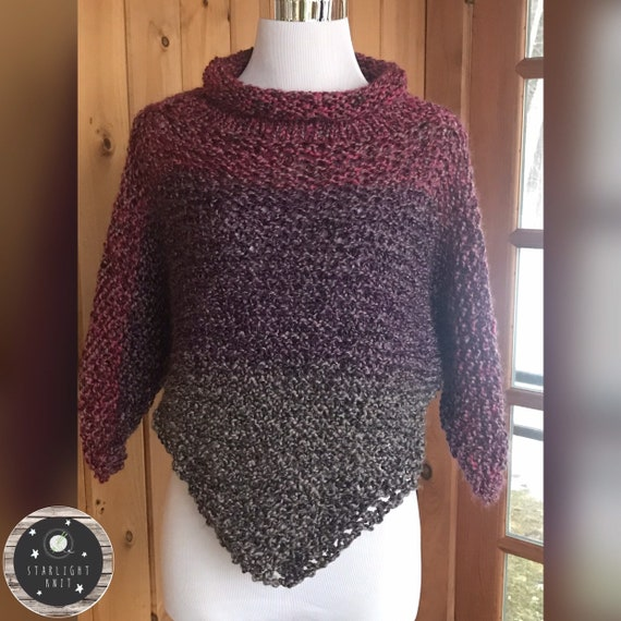 Hand Knit Ladies Accessory Poncho FREE SHIPPING