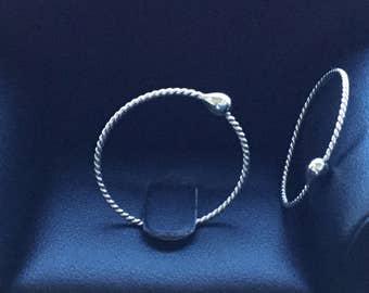 Silver Sleeper Hoops * Twisted Silver Hoops *  Argentium Hoop Earrings * Men's Women's Girl's Gift * 24 Hour Everyday Wear