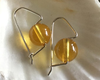 Genuine Citrine Earrings of Sterling Silver * Grade AAA * November Zodiac Birthstone * High Quality 8mm Gemstone Birthday Gift All Ages