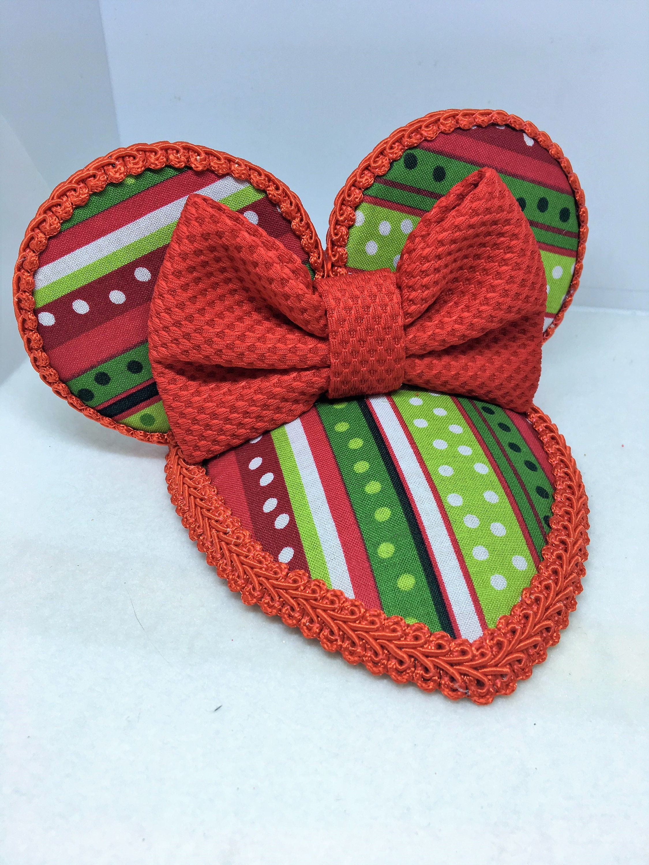 disney christmas minnie mouse fascinator hat mickeys christmas party disneyland - Mickeys Christmas Party Disneyland