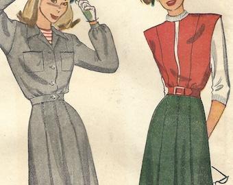 Set of 4 Sleeveless Jerkin Shirt Insert Striped Blue White Tabard Panels 1940s French Dress Bodice