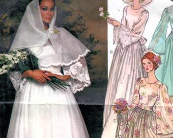 Uncut vintage vogue sewing pattern 1074 Nina Ricci Sewing Pattern  1983 Size 8 Misses/' Dress FF