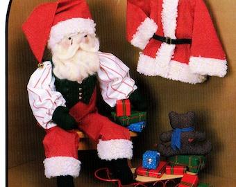 1980s Dream Spinners 126 UNCUT Vintage Craft Pattern St Nicholas, Santa Soft Doll, Small Bean Bag Teddy