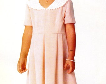 1990s Butterick 4860 UNCUT Vintage Sewing Pattern Girl's Formal Dress, Party Dress Size 7 - 8 - 10