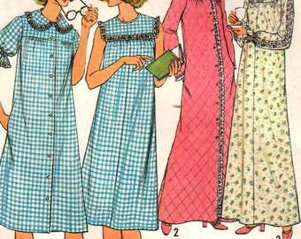 1970s Simplicity 8198 Vintage Sewing Pattern Misses A-line Nightgown b5f540ee7