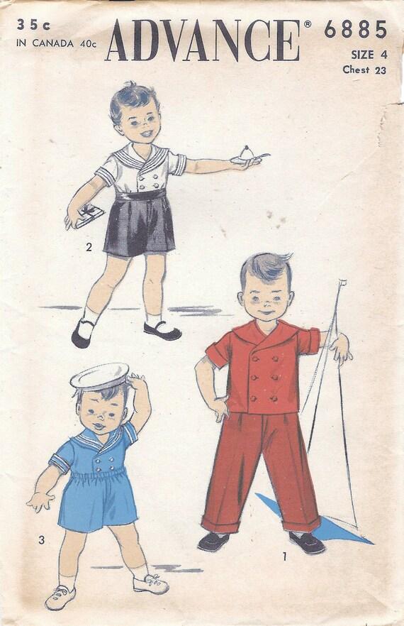 1950er Jahre vorab 6885 FF Vintage Nähen Muster jungen | Etsy
