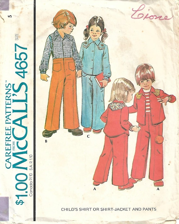 VTG 60s McCALLS 3120 Boys Shirt Pants Reversible Vest /& Belt PATTERN Sz 3 or 6