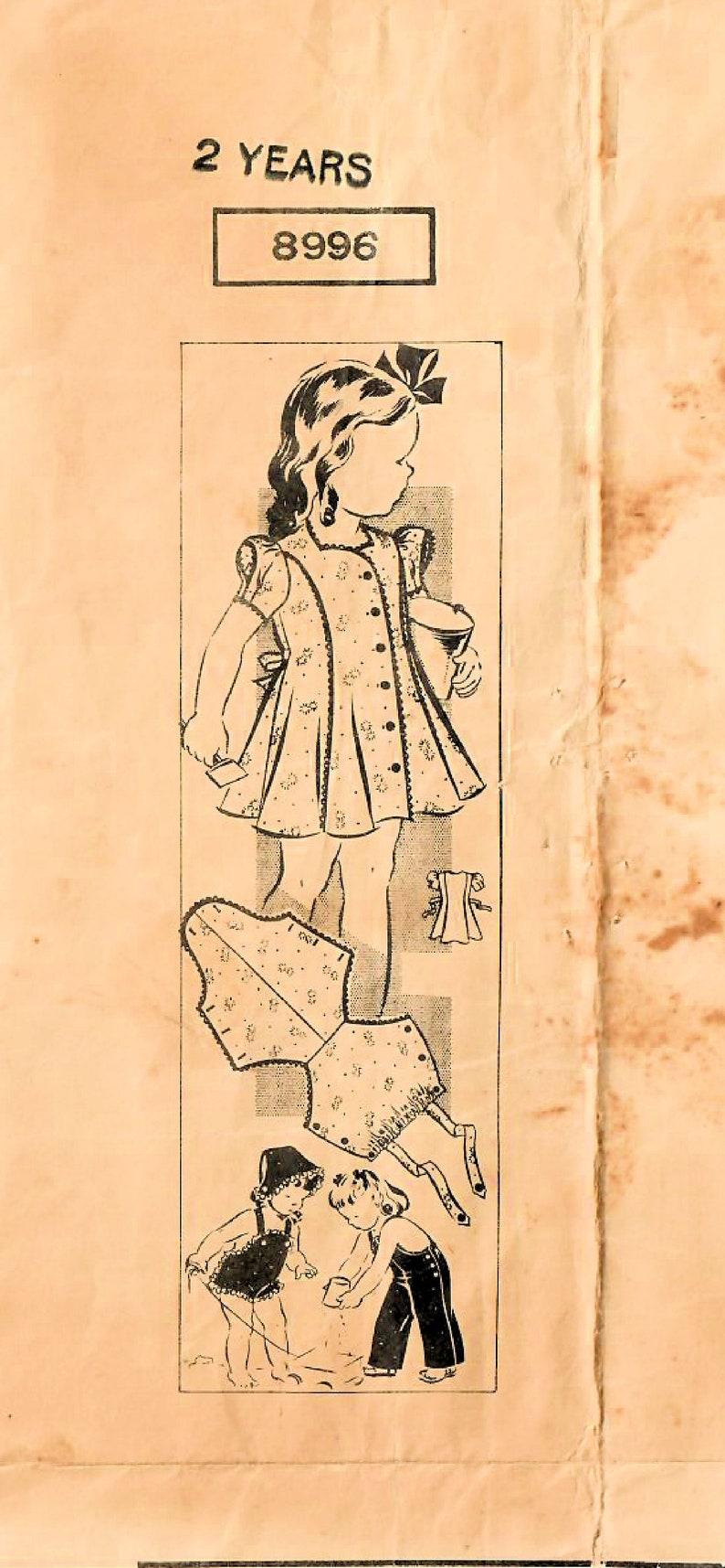 1940s Mail Order 8996 Vintage Sewing Pattern Girls Princess image 0