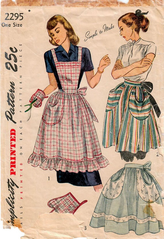 Patron de couture Vintage des années 1940 simplicité 2295 ...