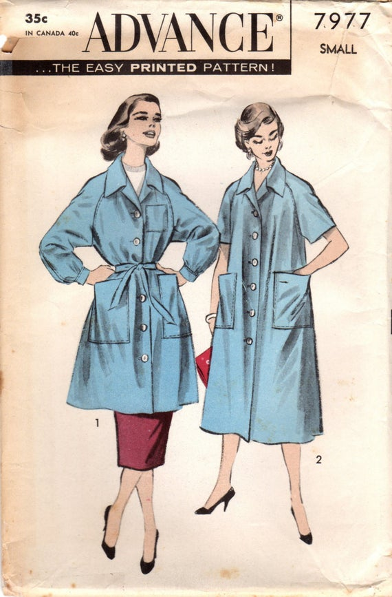 1950s Advance 7977 UNCUT Vintage Sewing Pattern Misses Smock | Etsy