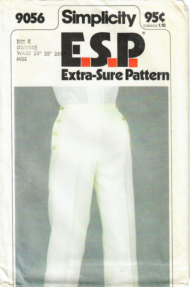 1970s Simplicity 9056 Vintage Sewing Pattern Extra Sure image 0