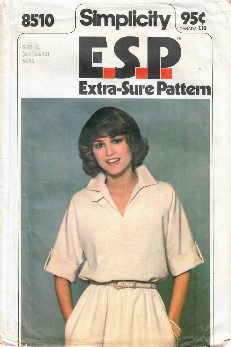 1970s Simplicity 8510 UNCUT Vintage Sewing Pattern Misses image 0