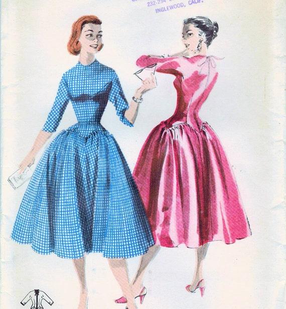 1950er Jahre Butt 7555 ungeschnitten Vintage Nähen Muster | Etsy
