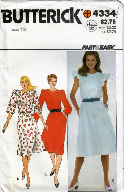 1980s Butterick 4334 UNCUT Vintage Sewing Pattern Misses image 0
