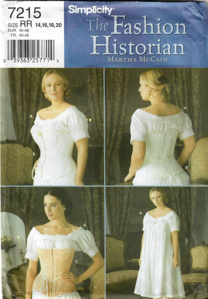 2000s Simplicity 7215 UNCUT Sewing Pattern Fashion Historian image 0