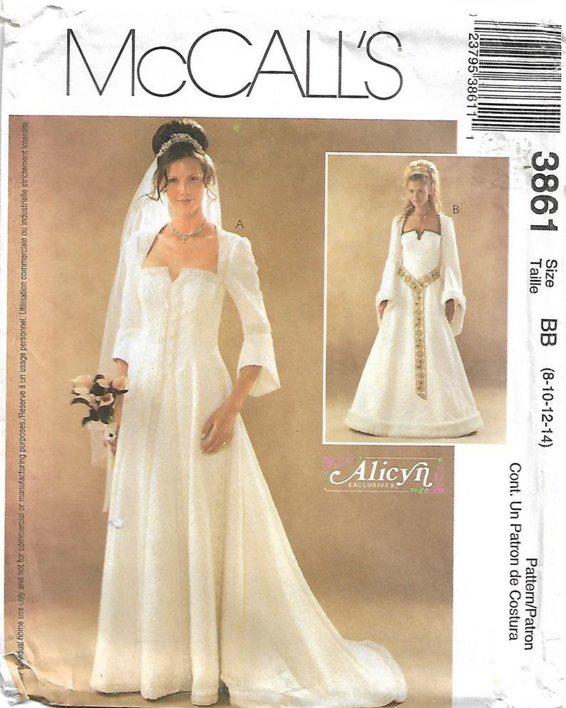 cee9dc44ff3 2000s McCall s 3861 UNCUT Sewing Pattern Wedding Dress