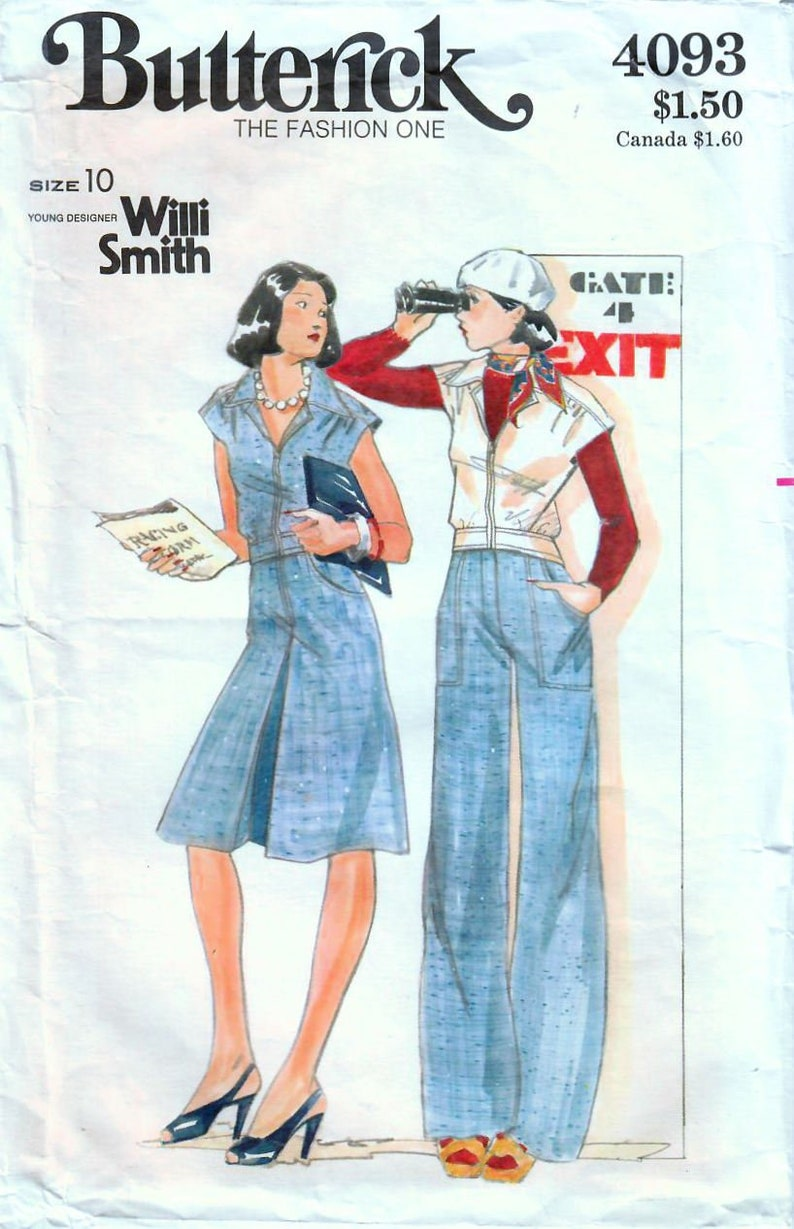 1970s Butterick 4093 Vintage Sewing Pattern Misses Jacket image 0