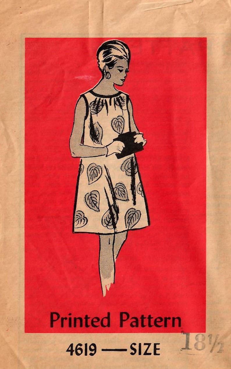 1960s Mail Order 4619 UNCUT Vintage Sewing Pattern Misses Half image 0