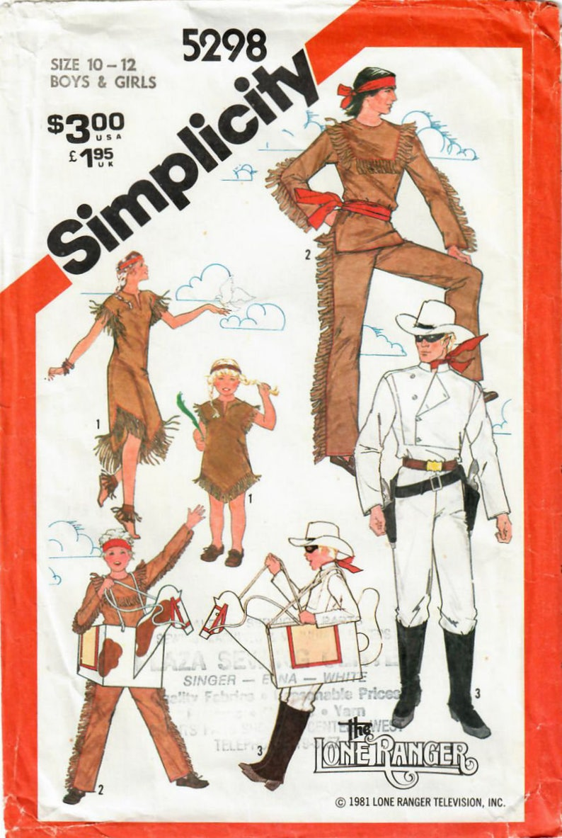 1980s Simplicity 5298 Vintage Sewing Pattern Boys and Girls image 0