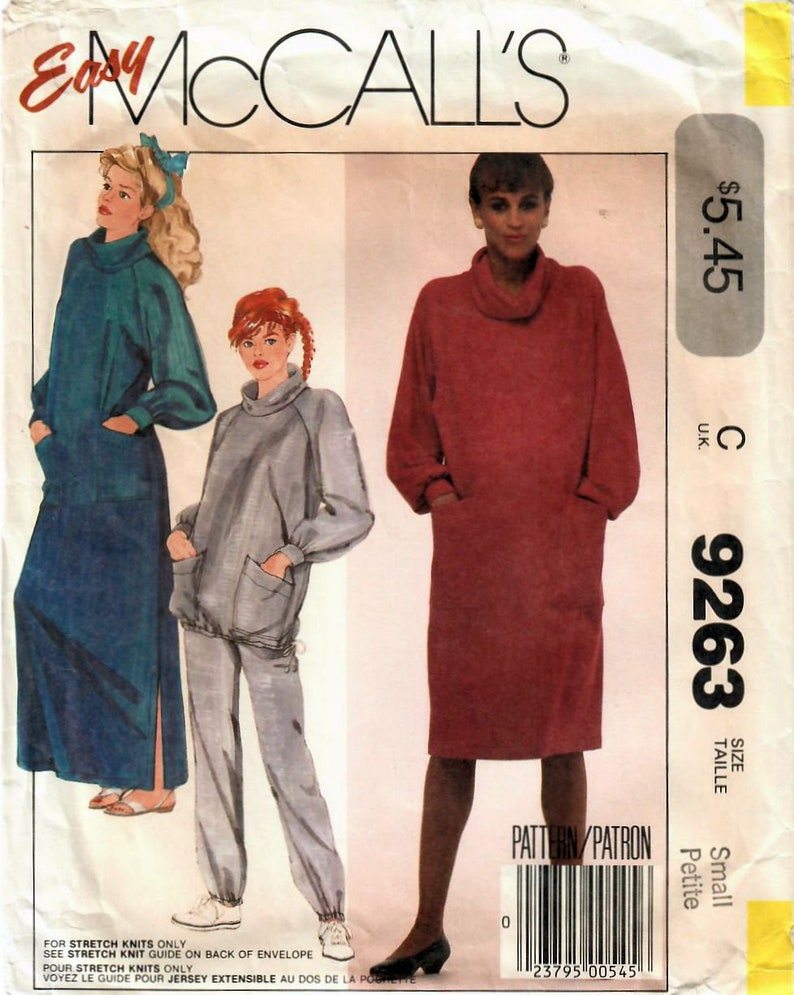 fb39d6198ecac 1980s McCall's 9263 Vintage Sewing Pattern Maternity | Etsy