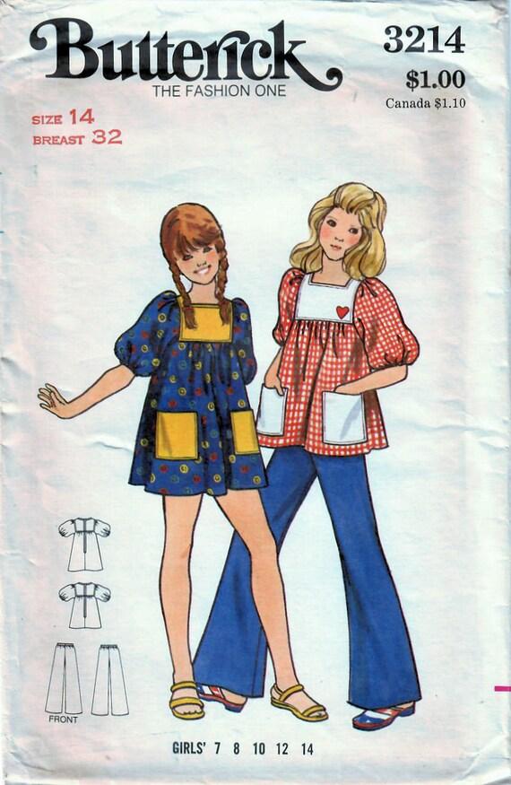 1970er Jahren ausgestellter Butt 3214 Vintage Nähen Muster | Etsy