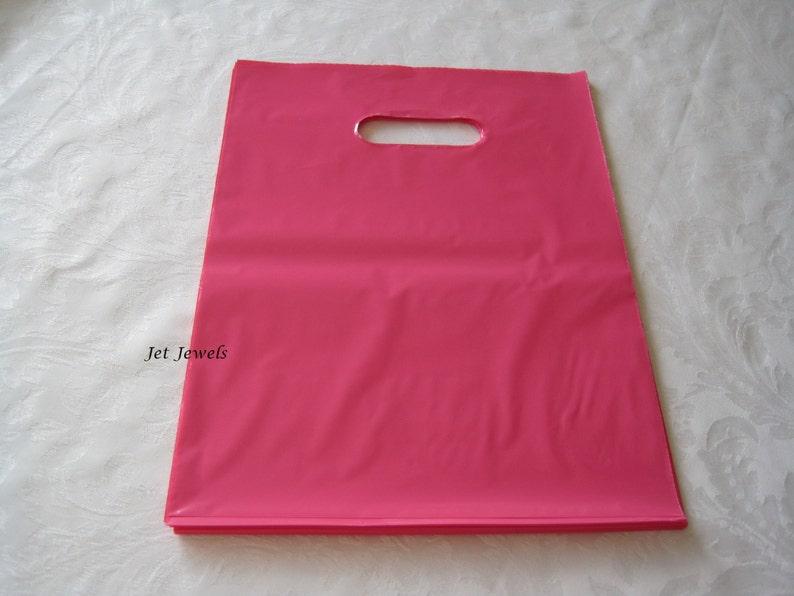 Gift Bags Shopping Bags Retail Merchandise Bags Plastic Gift Bags 100 Plastic Bags Candy Bags 12x15 Pink Plastic Bags Shopping Bag