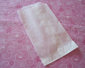 50 Wax Paper Bags, Candy Bags, Cookie Bags, Bakery Bags, Pastry Bag, Grease Resistant, Food Safe Bags, Glassine Bags 3.75x6.25