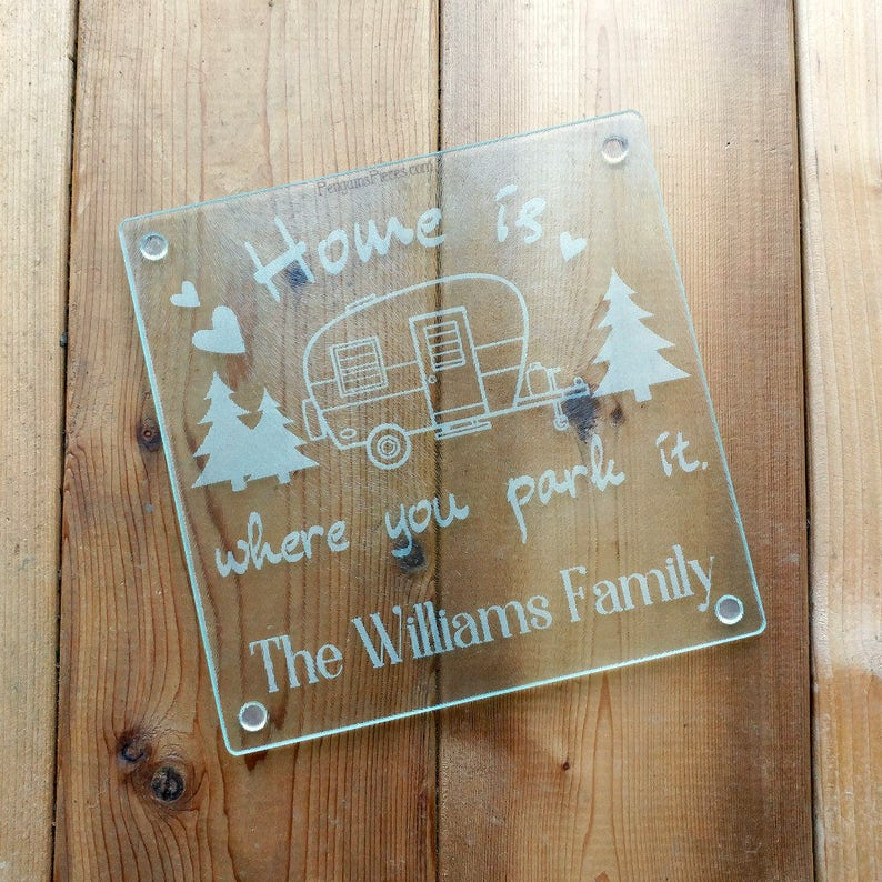Personalized Etched Glass Cutting Board  7.75x7.75  image 0