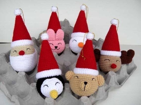 Crochet Pattern Christmas Ornaments 1 Deco Toys 00424 Etsy